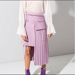 Dresses & Skirts - Lilac Asymmetric Pleated Skirt